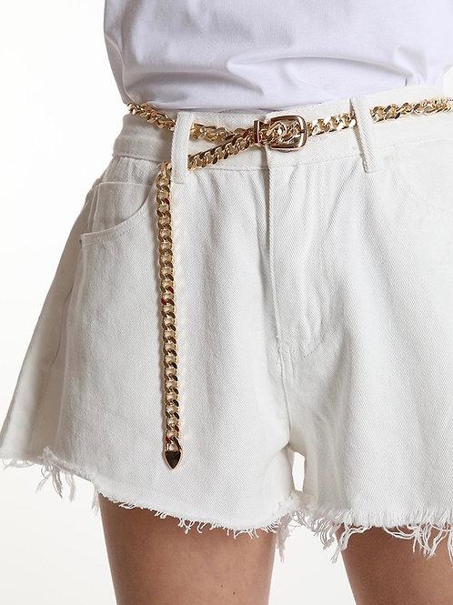 Shorts a farfalla in jeans