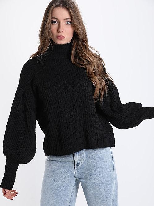 Maglione a coste in lana