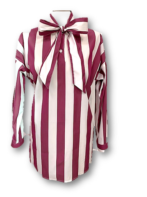 Camicia sartoriale con fiocco
