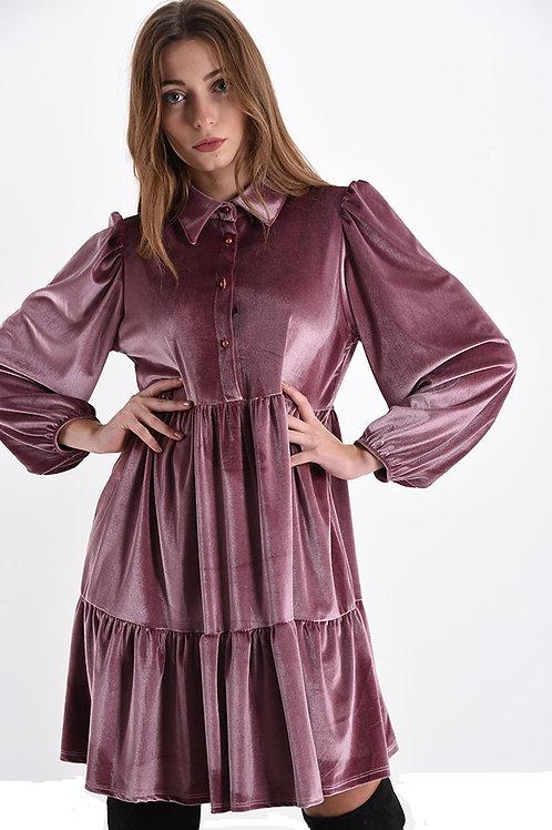 Vestito balze in vellutino