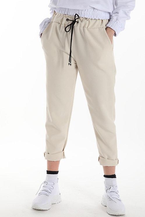 Pantalone con coulisse in tessuto tecnico