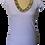 Thumbnail: T-shirt scollo V frangine colorate