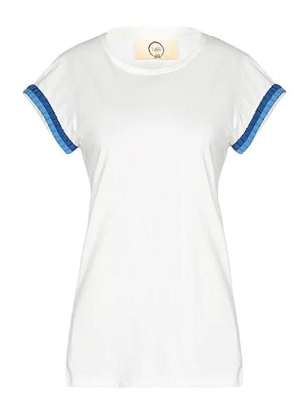 T-shirt girocollo bordo passamaneria bicolore