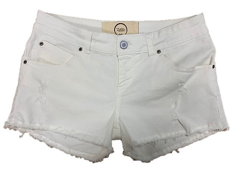 Shorts in denim bianco