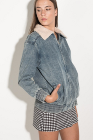 Giubbo denim Bomber
