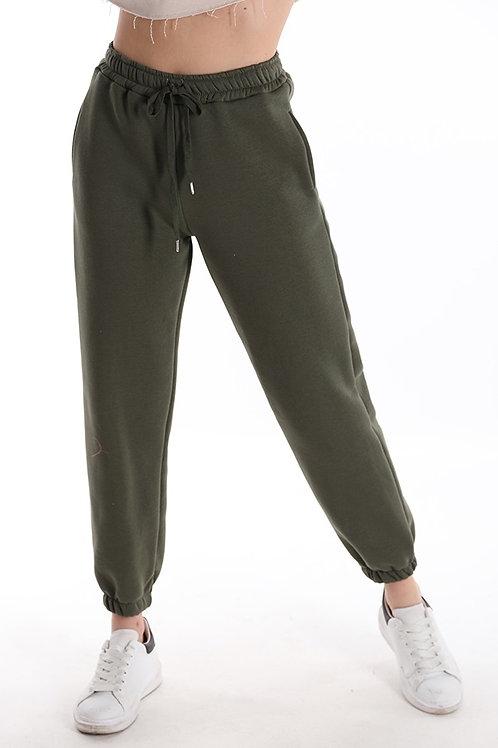 Pantalone felpato con coulisse