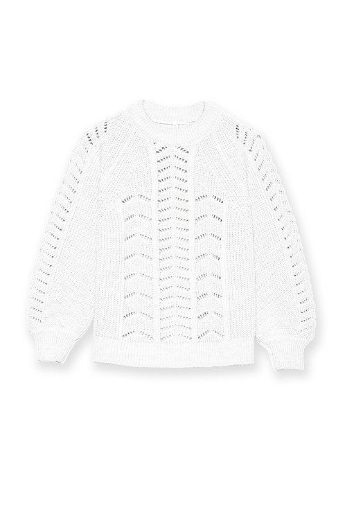 Maglione in cotone traforato