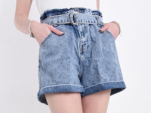 Pantaloncino jeans con cintura