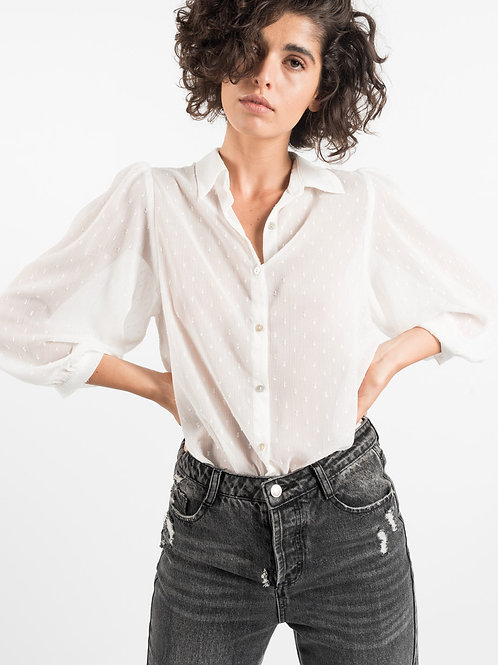 Camicia Plumetis bianca