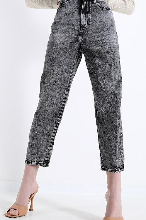 Jeans boyfriend nero slavato