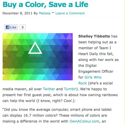 I Heart Daily Blog Posts