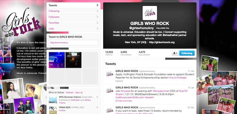 GIRLS WHO ROCK Twitter