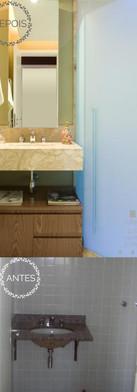 Banheiro Social Antes e Depois