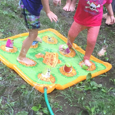 Playing groundhog water game!