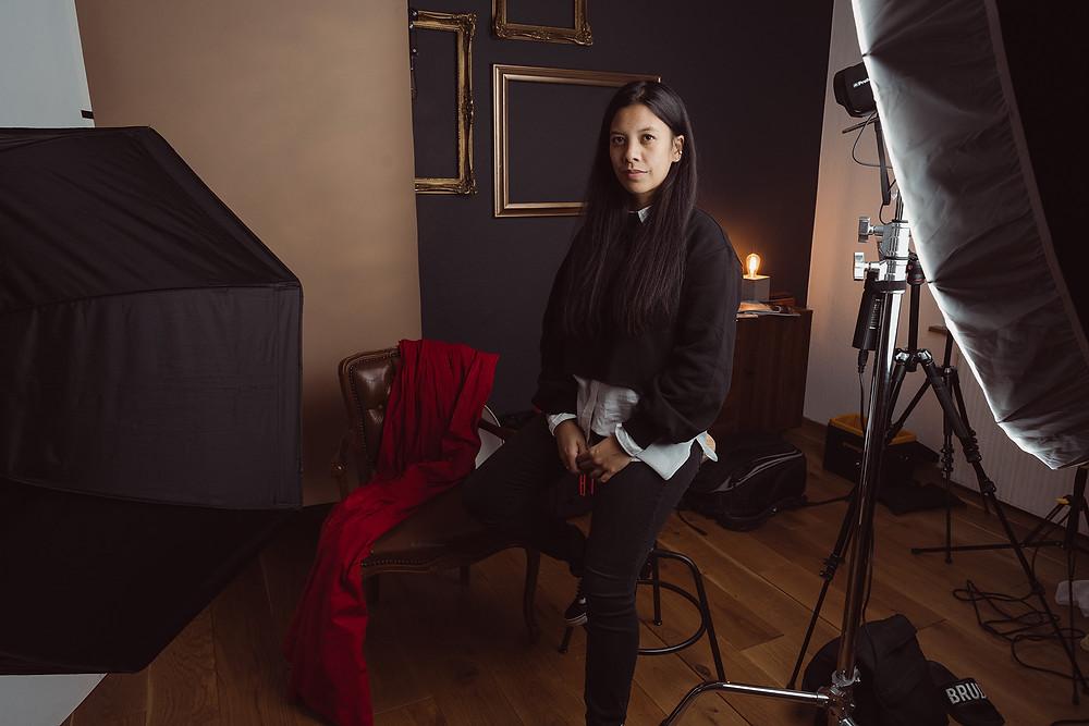 Jill Abanico im Home-Fotostudio