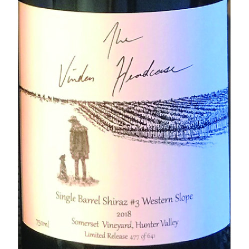 Vinden Estate Headcase Somerset Vineyard Single Barrel Shiraz #3 Western Slope
