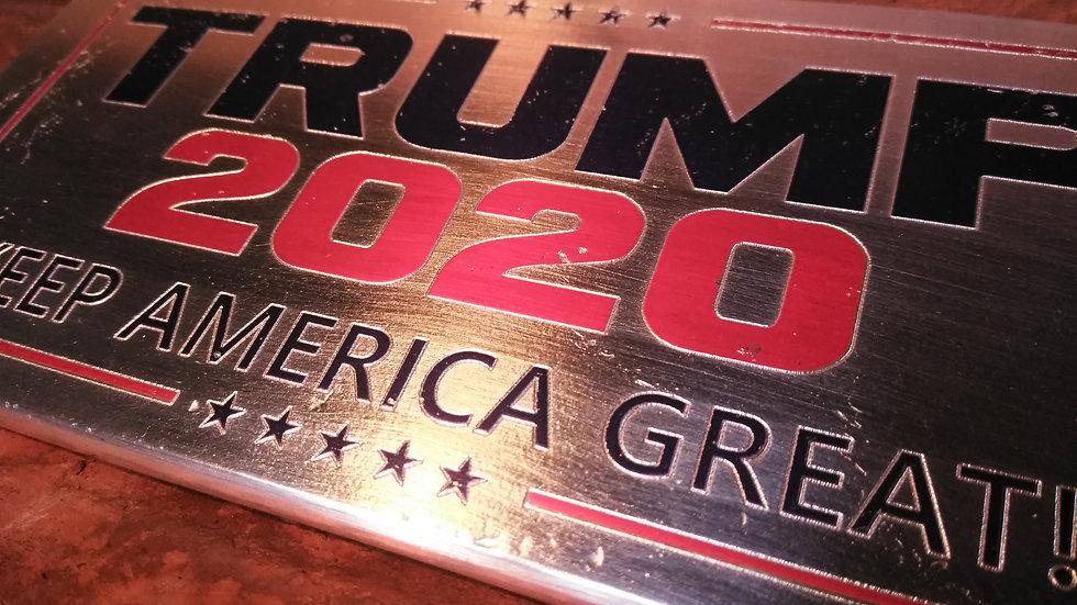 TRUMP 2020/4EVA KILO BAR 999 SILVER