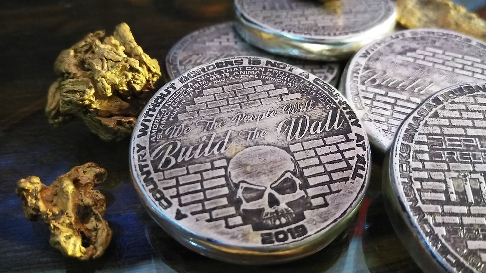BUILD THE WALL 2oz 999 SILVER ROUND