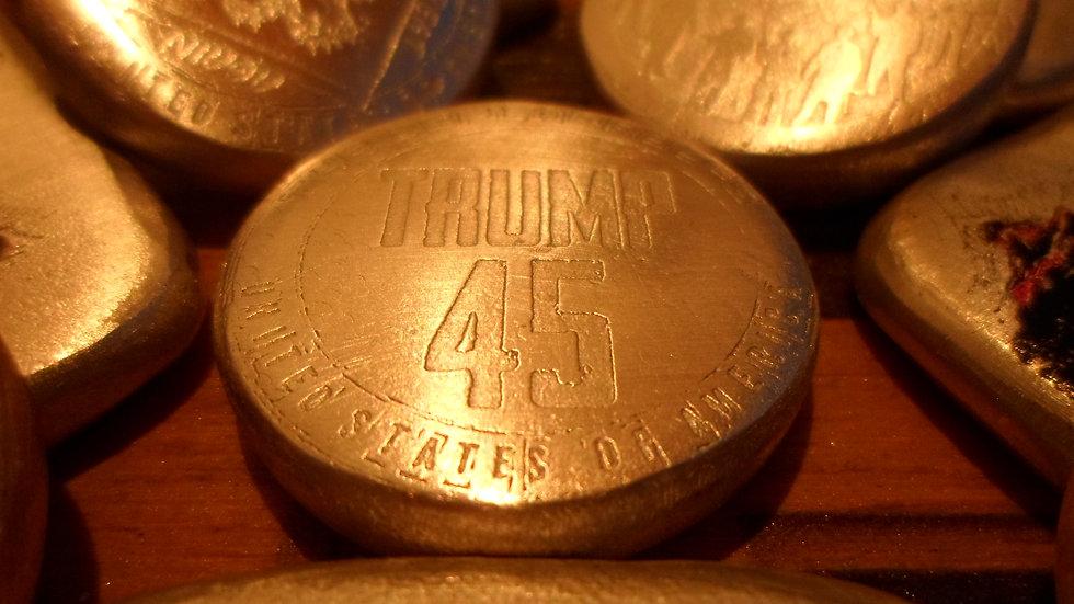 50+ Grams Deplorables (TRUMP 45) Round 999 Silver
