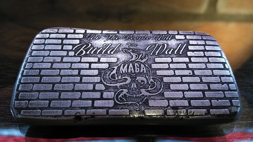 BUILD THE WALL 5OZ 999 SILVER BAR