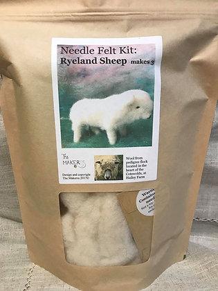 Ryeland Sheep Needle Felting Kit
