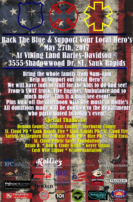 Back The Blue & Support Your Local Hero's