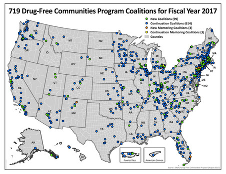 White House Drug Policy Office Awards  $89 Million to Largest-Ever Number of Local Coalitions to Pre