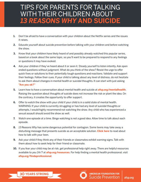 13 Reasons Why and Suicide