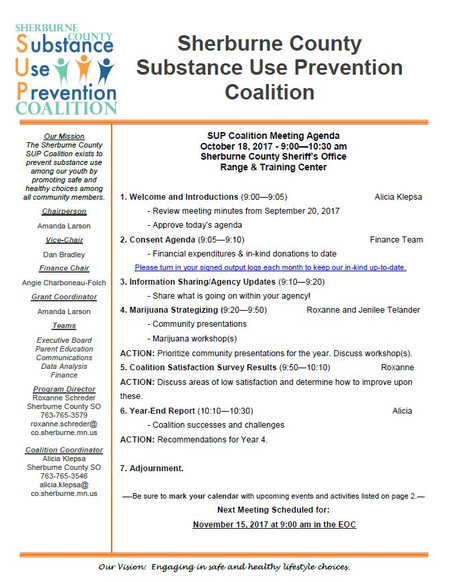 October SUP Coalition Meeting Agenda - Join Us!