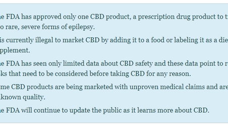 What You Need to Know About Products Containing Cannabis or Cannabis-derived Compounds, Including CB