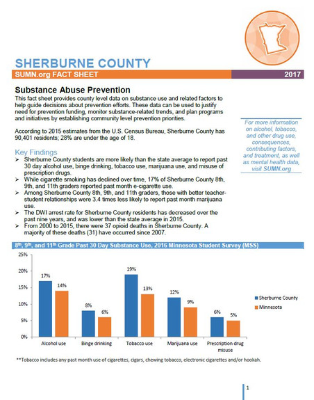 Sherburne County 2017 Fact Sheet - Substance Abuse Prevention