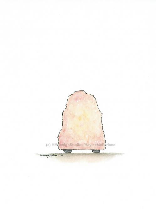 Salt Lamp Greeting Card, Watercolor and Pen & Ink by Haylee McFarland