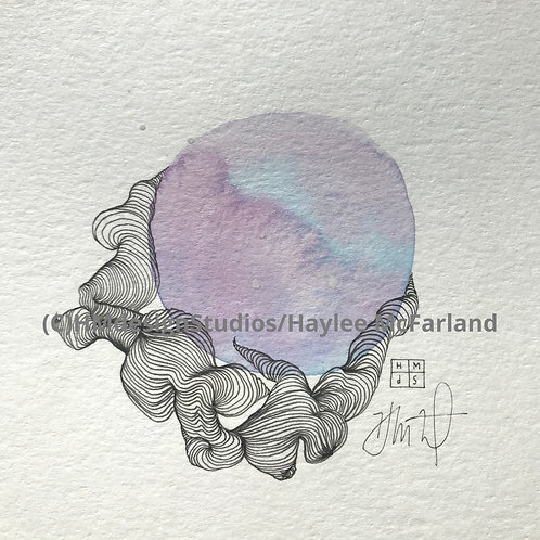 Mini Orb ORIGINAL, Watercolor and Pen & Ink by Haylee McFarland