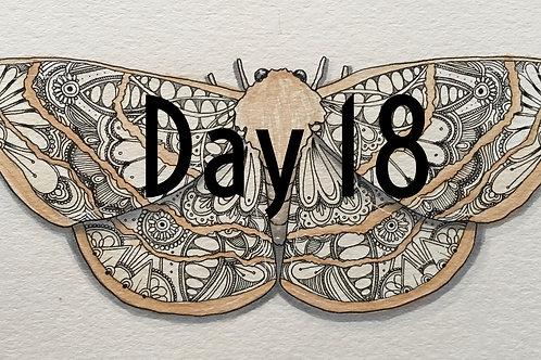 Moth ORIGINAL Watercolor and Pen & Ink by Haylee McFarland