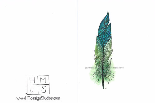 Sour Gummyworm Feather Inspirational Card by Haylee McFarland