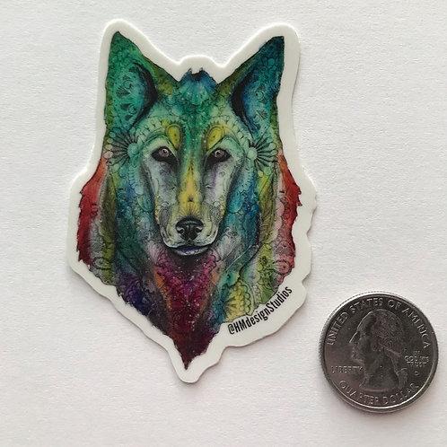 Cosmic Wolf Sticker