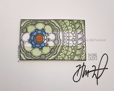 ORIGINAL Colorado State Shape, Watercolor and Pen & Ink by Haylee McFarland