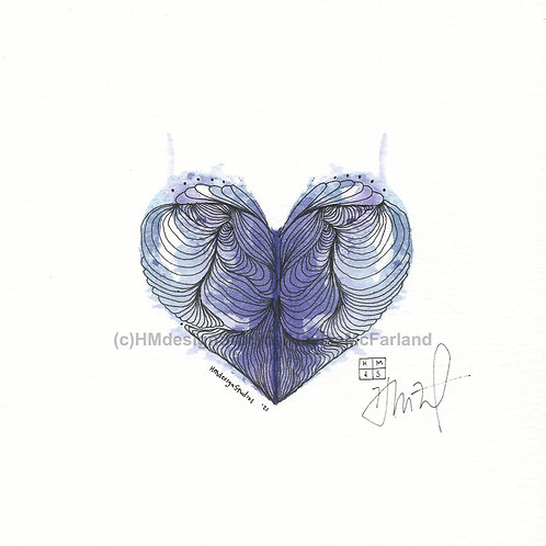 LOVE Mini ORIGINAL, Watercolor and Pen & Ink by Haylee McFarland