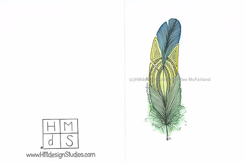 Tutti Fruiti Feather Inspirational Card by Haylee McFarland