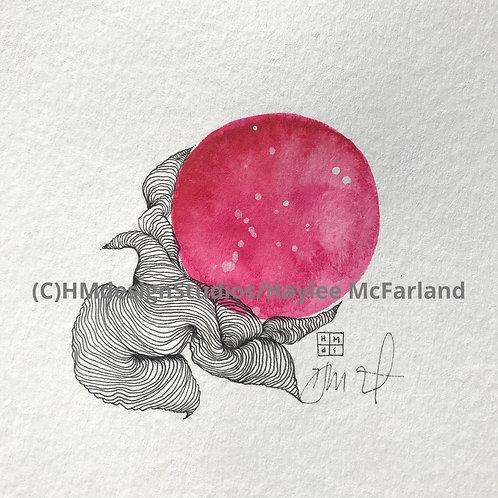 Mini Orb ORIGINAL, Watercolor and Pen & Ink by Haylee McFarland
