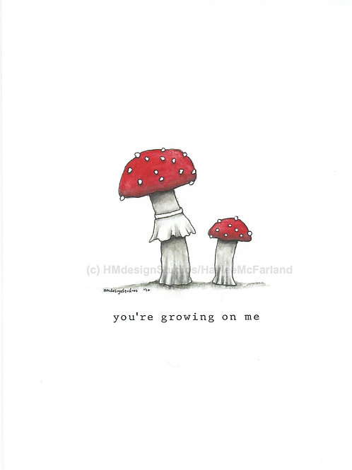 Fly Agaric Mushroom Greeting Cards Watercolor and Pen & Ink by Haylee McFarland