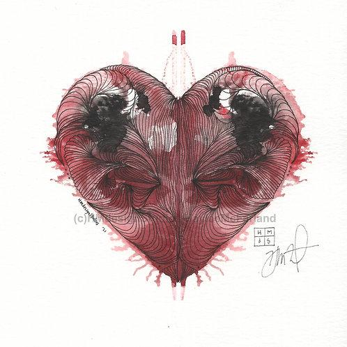 LOVE Mini ORIGINAL, Watercolor and Pen & Ink by Haylee McFarland