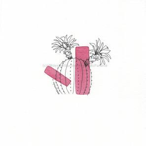 Geometric Cactus Cards