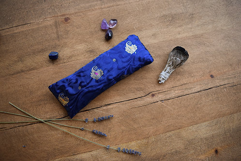 Vivid Blue Lavender Eye Pillow