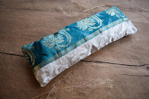 Emerald + Gold Lavender Eye Pillow