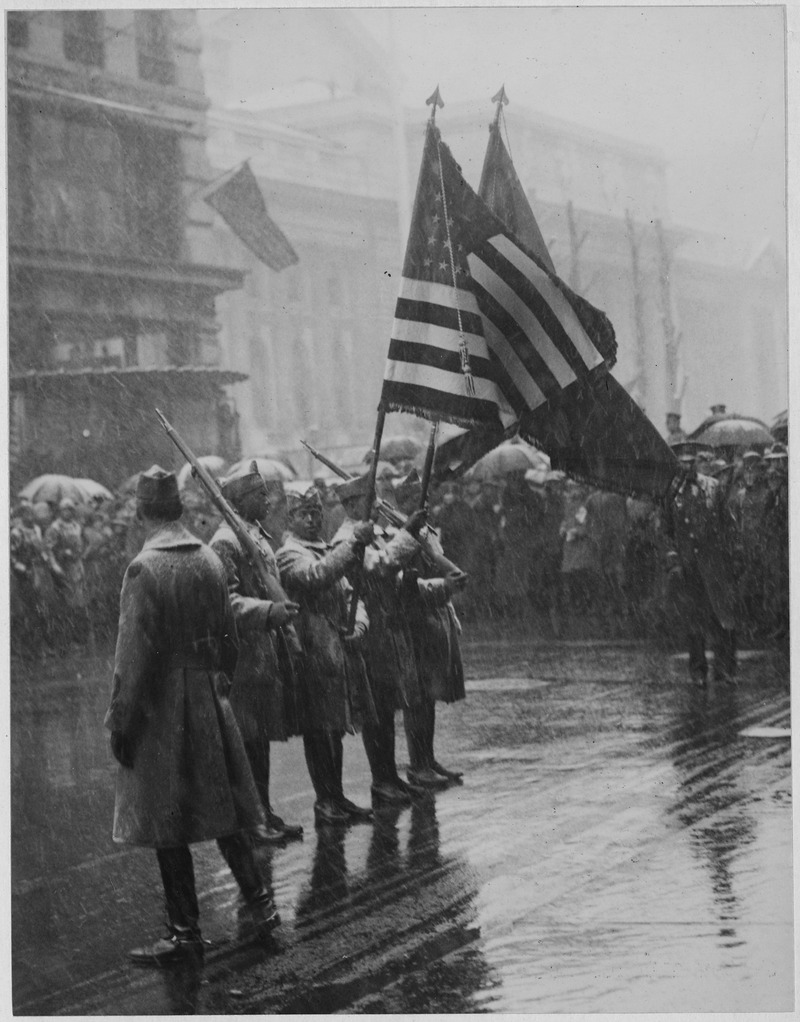 """""""_367th_Infantry,_(African_American)_troops_return_colors_to_Union_League_Club._"""