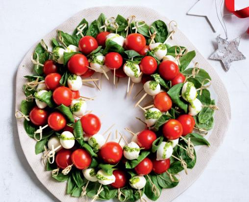 Dietitian's Pick: Tomato, Basil and Bocconcini Wreath