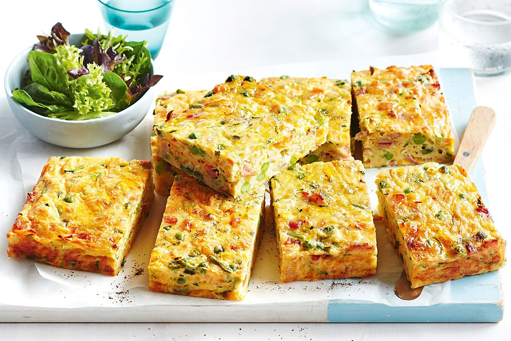 zucchini and bacon frittata