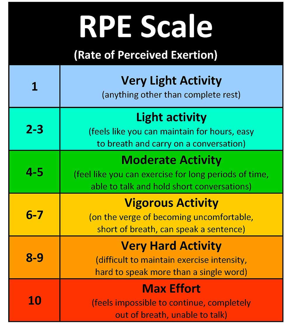 perceived exertion scale