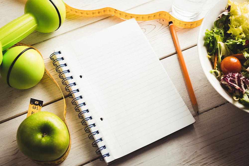 write down your weight loss goals